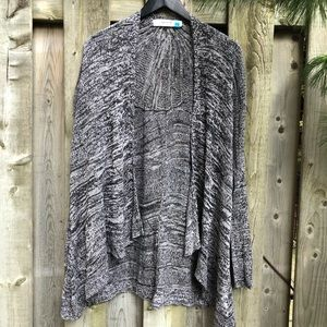 Anthro Sparrow Sheer Linen Blend Swing Cardigan